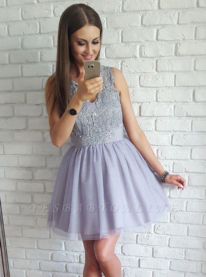 Sexy Sleeveless Homecoming Dresses | A-Line V-Neck Cocktail Dresses