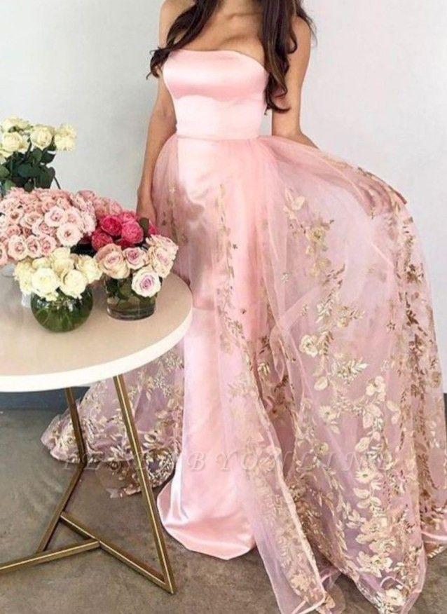 Chic Strapless Mermaid Evening Dresses | Sleeveless Long Prom Dresses
