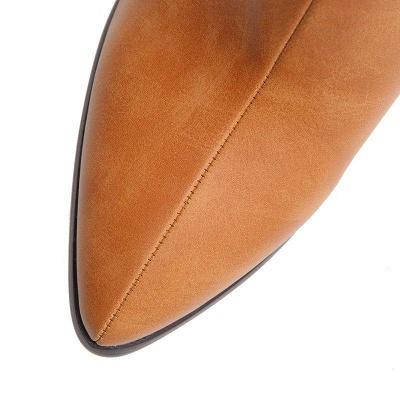 Daily PU Chunky Heel Boots On Sale_4