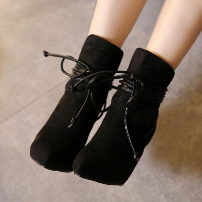 Women's Boots Ankle Boots Stiletto Heel Suede Shoes On Sale_2