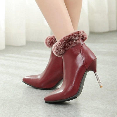 Stiletto Heel Daily Pointed Toe Suede Boots On Sale_5
