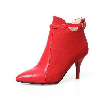 Buckle Stiletto Heel Daily Elegant Boots On Sale_4