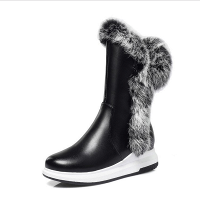 Wedge Heel Daily Zipper Round Toe Boots On Sale_3
