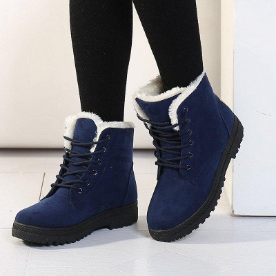 Daily Lace-up Round Toe Boots On Sale_1