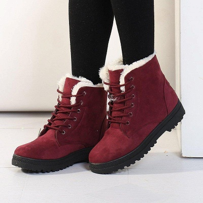 Daily Lace-up Round Toe Boots On Sale_2