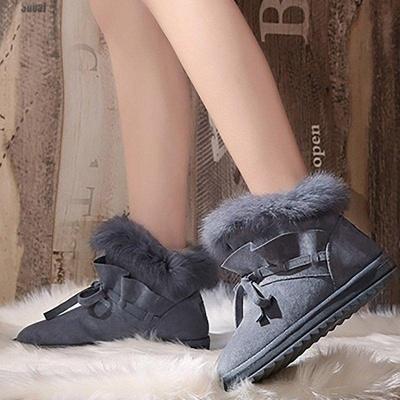 Feather Flat Heel Boot On Sale_9