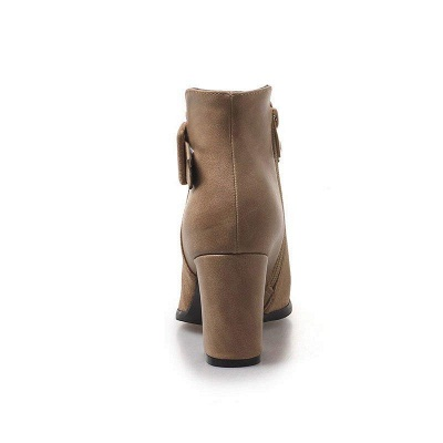 Daily Chunky Heel Suede Round Toe Boot On Sale_8