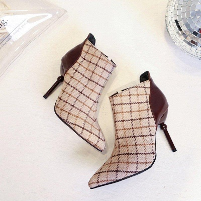 Summer Stiletto Heel Zipper Daily Pointed Boots On Sale_4