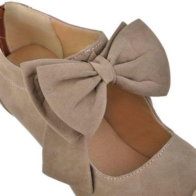 Round Toe Bowtie Hollow Stiletto Heel Women's Boots On Sale_11