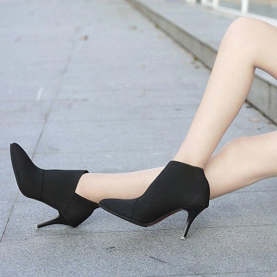 Pointed Toe Stiletto Heel Elegant Boots On Sale_6