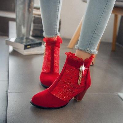 Lady Chunky Heel Boots On Sale_5
