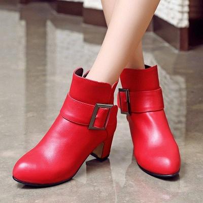 Chunky Heel Zipper Boots On Sale_5