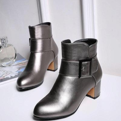 Chunky Heel Zipper Boots On Sale_6