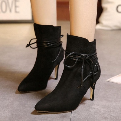 Women's Boots Ankle Boots Stiletto Heel Suede Shoes On Sale_3