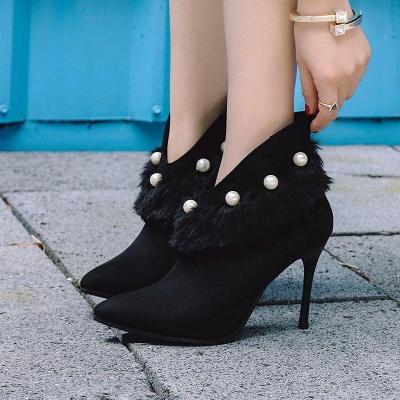 High Heel Zipper Suede Boot On Sale_1