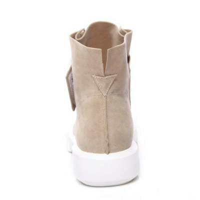 Flat Heel Round Toe Casual Middle Boots On Sale_6