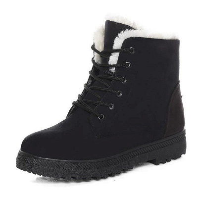 Daily Lace-up Round Toe Boots On Sale_4