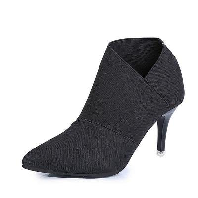 Pointed Toe Stiletto Heel Elegant Boots On Sale_2