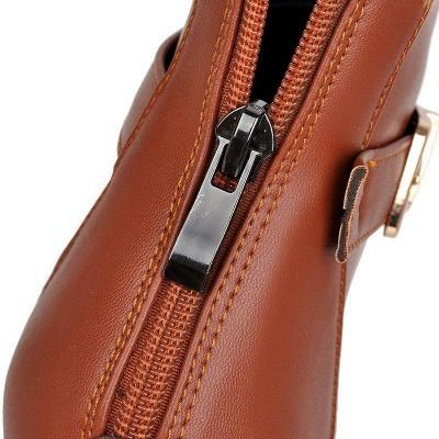 Daily PU Chunky Heel Round Toe On Sale_8