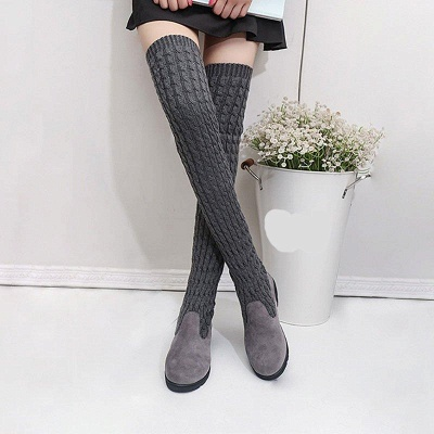 Suede Daily Wedge Heel Round Toe Boot On Sale_1