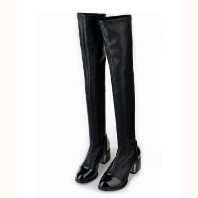 Daily Pointed Toe Chunky Heel Elegant Boots On Sale_3