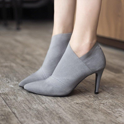 Pointed Toe Stiletto Heel Elegant Boots On Sale_8