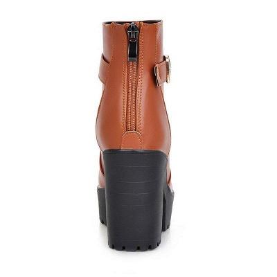 Daily PU Chunky Heel Round Toe On Sale_7