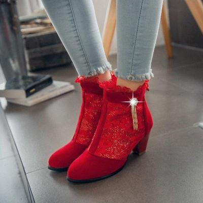 Lady Chunky Heel Boots On Sale_1