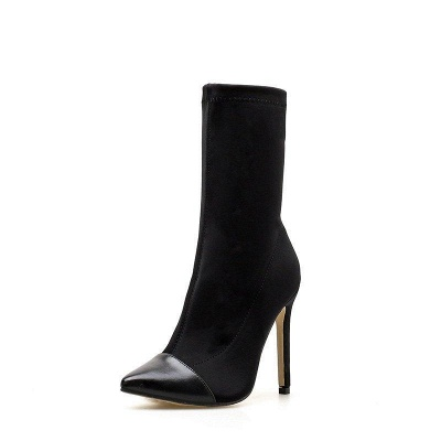 Stiletto Heel Pointed Toe Elegant Boots On Sale_8