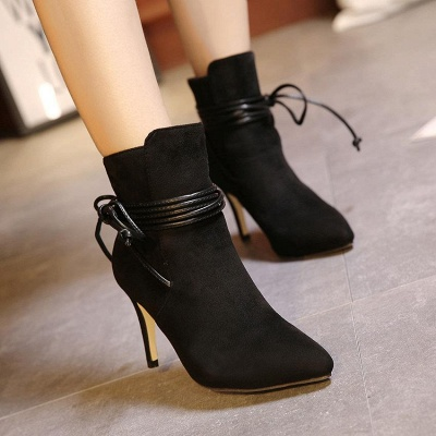 Women's Boots Ankle Boots Stiletto Heel Suede Shoes On Sale_1