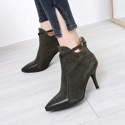 Buckle Stiletto Heel Daily Elegant Boots On Sale_1