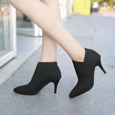 Pointed Toe Stiletto Heel Elegant Boots On Sale_5