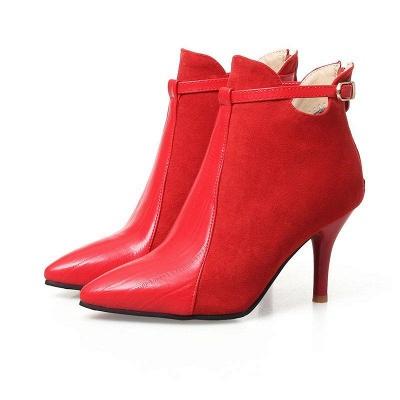 Buckle Stiletto Heel Daily Elegant Boots On Sale_3