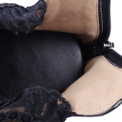 Zipper Hollow-out Wedge Heel Elegant Boots On Sale_9