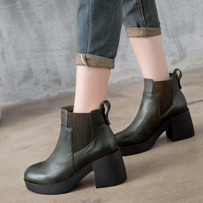 Cowhide Leather Boots On Sale_3