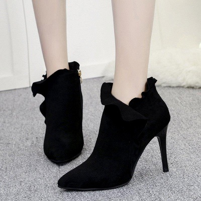 Suede Stiletto Heel Zipper Boots On Sale_3