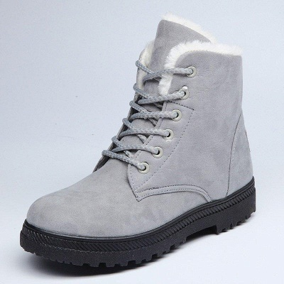 Daily Lace-up Round Toe Boots On Sale_5