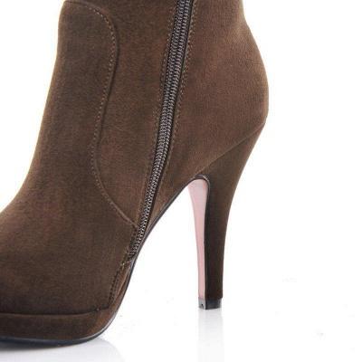 Women's Boots Stiletto Heel Flower Pointed Toe Elegant Boots On Sale_9