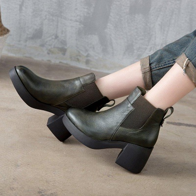 Cowhide Leather Boots On Sale_4