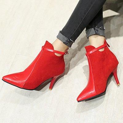 Buckle Stiletto Heel Daily Elegant Boots On Sale_2