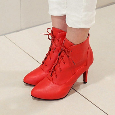 Lace-up Stiletto Heel Pointed Toe Elegant Boots On Sale_7