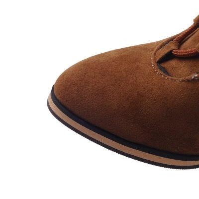 Chunky Heel Daily Rhinestone Pointed Toe Boots On Sale_11