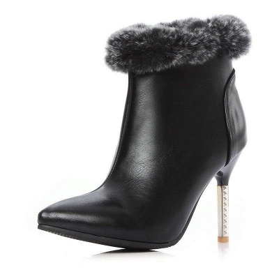 Stiletto Heel Daily Pointed Toe Suede Boots On Sale_2