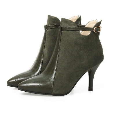 Buckle Stiletto Heel Daily Elegant Boots On Sale_5