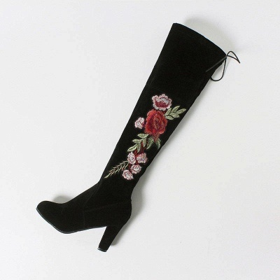 Camouflage Daily Lace-up Chunky Heel Fall Boots On Sale_5