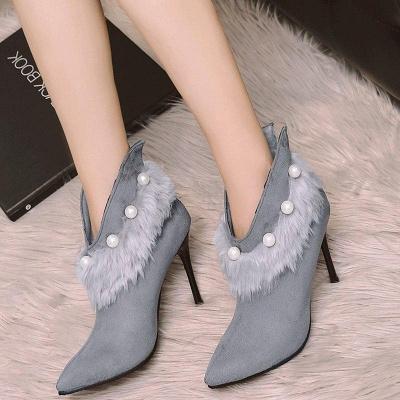 High Heel Zipper Suede Boot On Sale_2