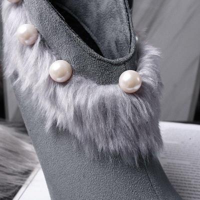 High Heel Zipper Suede Boot On Sale_7