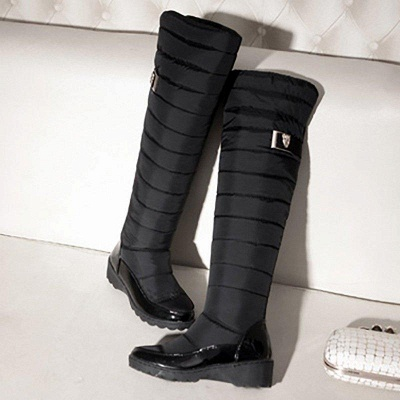 Chunky Heel Daily Round Boots On Sale_3