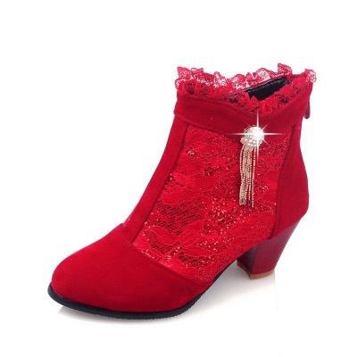 Lady Chunky Heel Boots On Sale_9