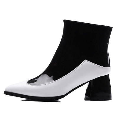 Chunky Heel Zipper Daily Elegant Pointed Toe Boots On Sale_3